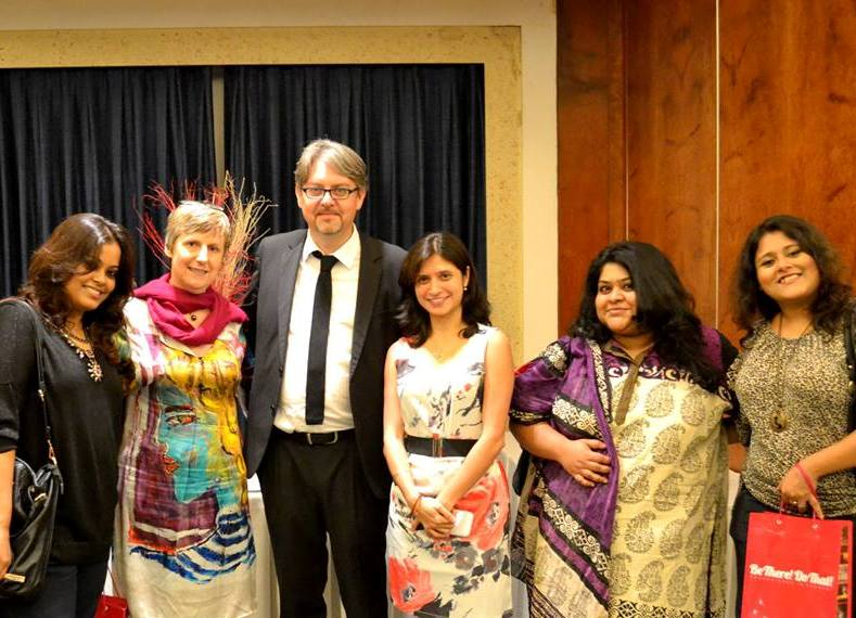 With Catherine Oden, Fabrice Etienne, Keshwar Bhagat, Poorna and Priyadarshini