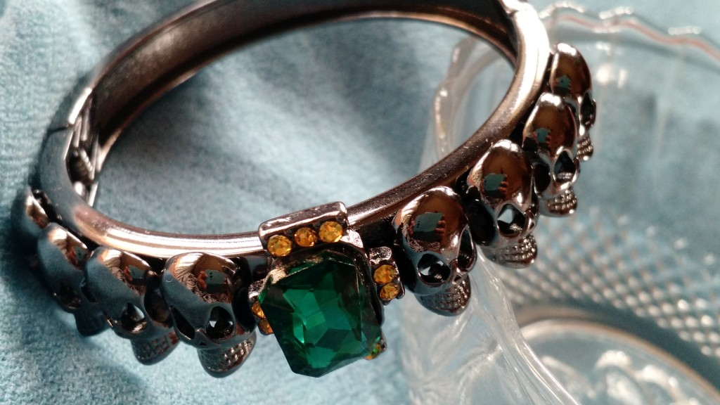 MAWI X KOOVS Skull And Gem Bangle