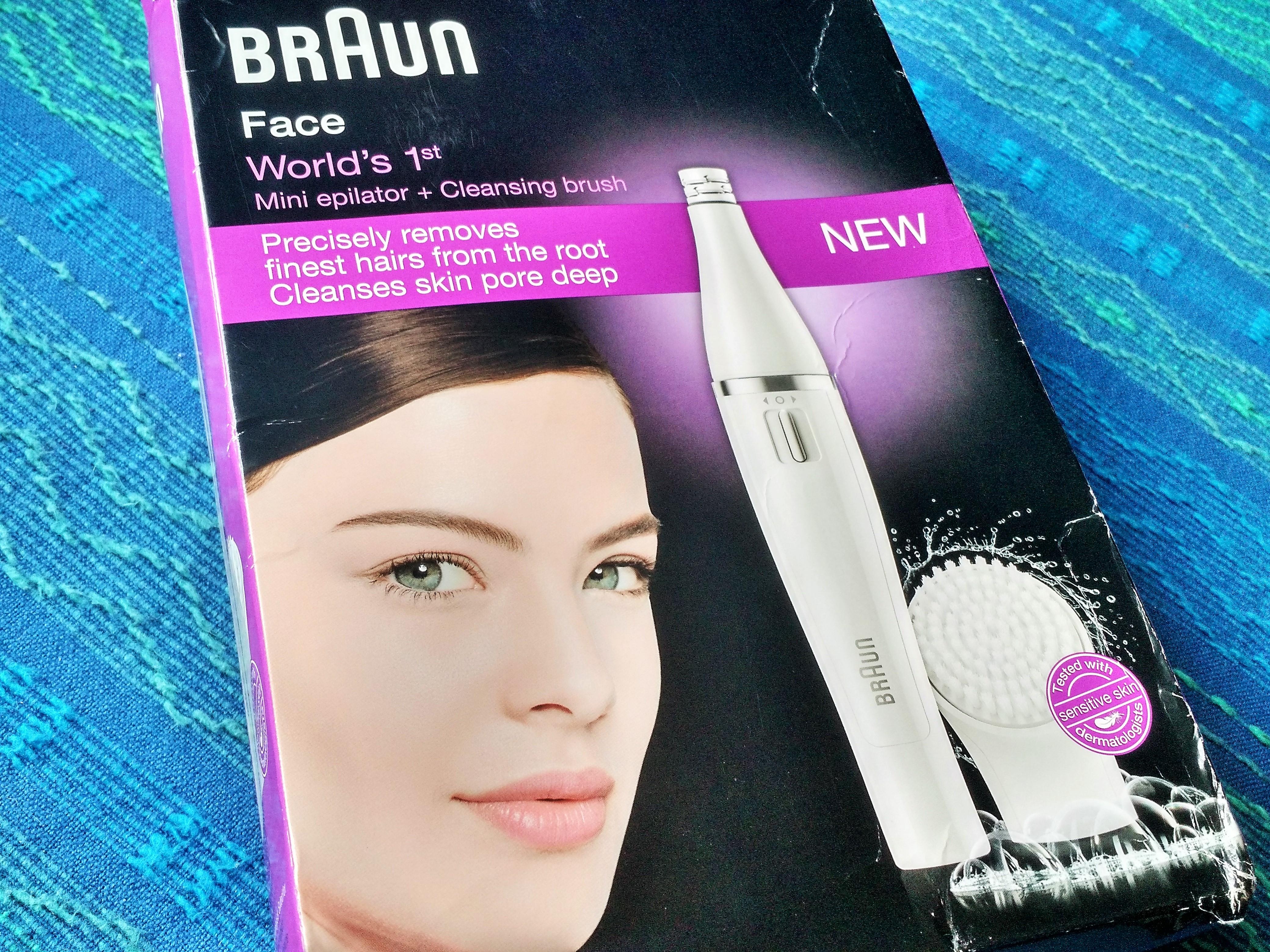 Braun Face Mini Epilator + Cleansing Brush