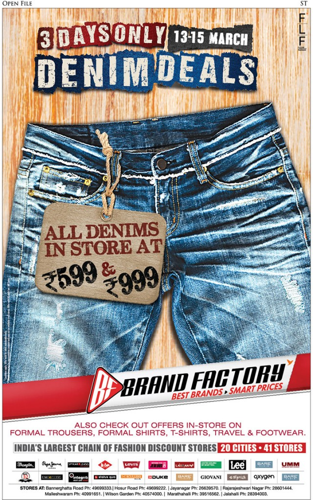 Discount Denim Festival at Brand Factory