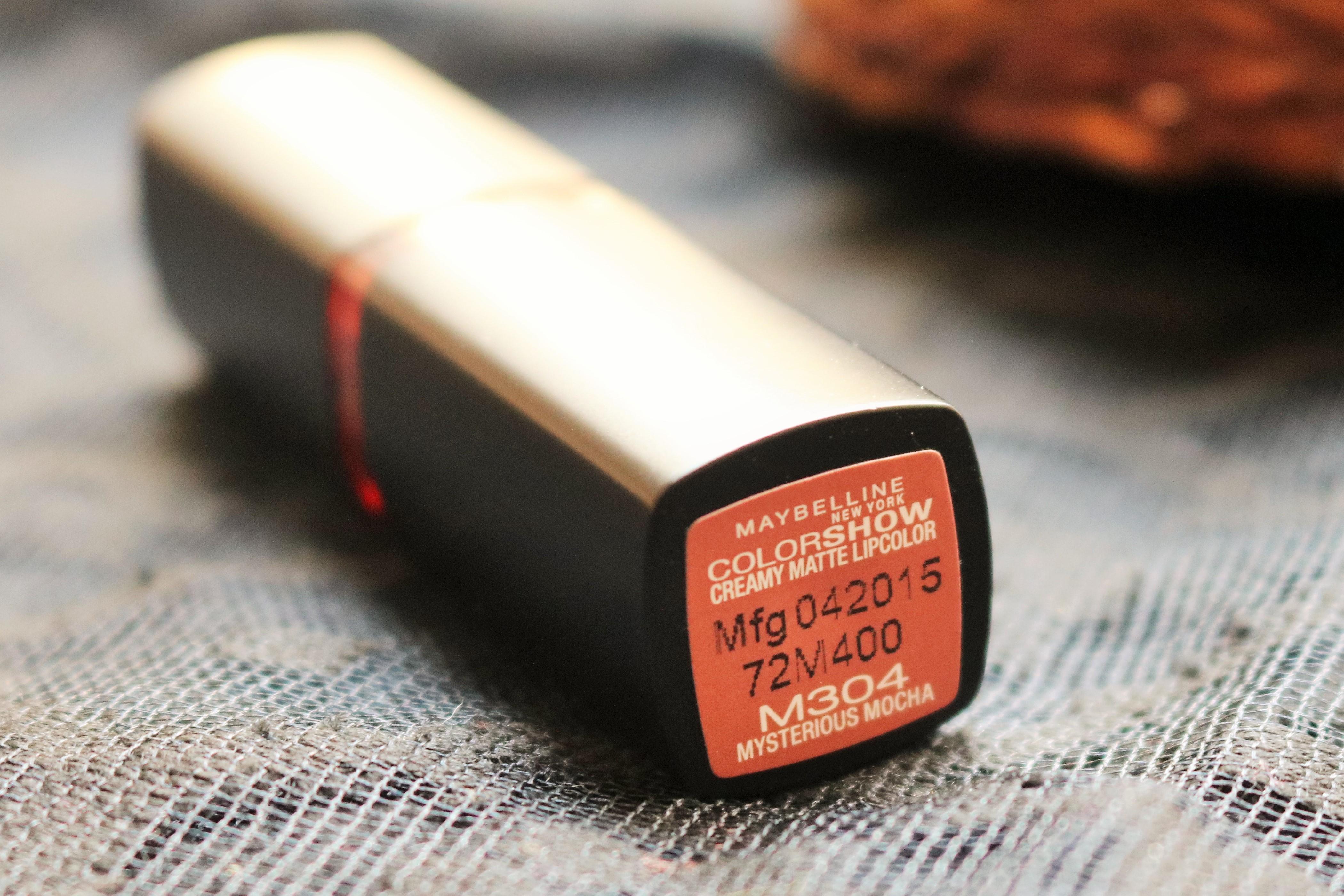 Maybelline Creamy Matte Lipstick Mysterious Mocha