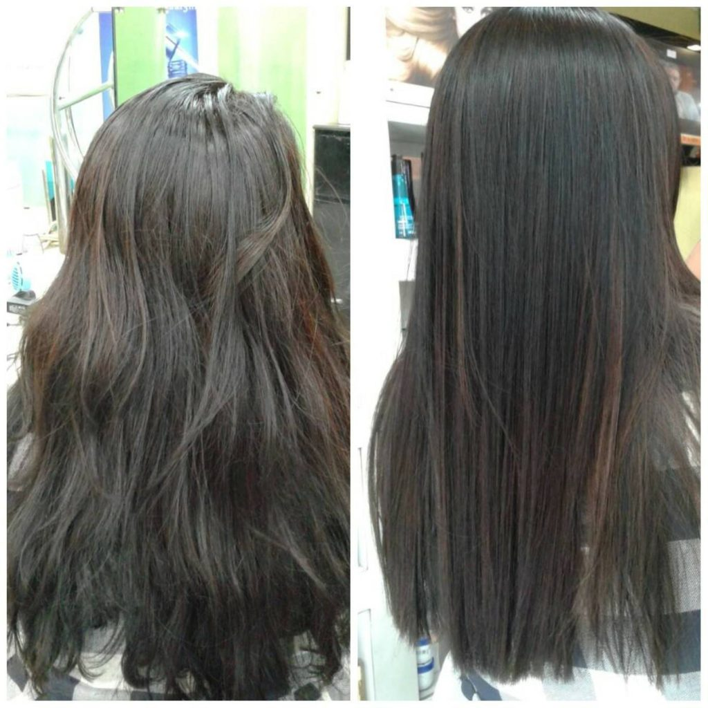GKhair Keratin Treatment before & After