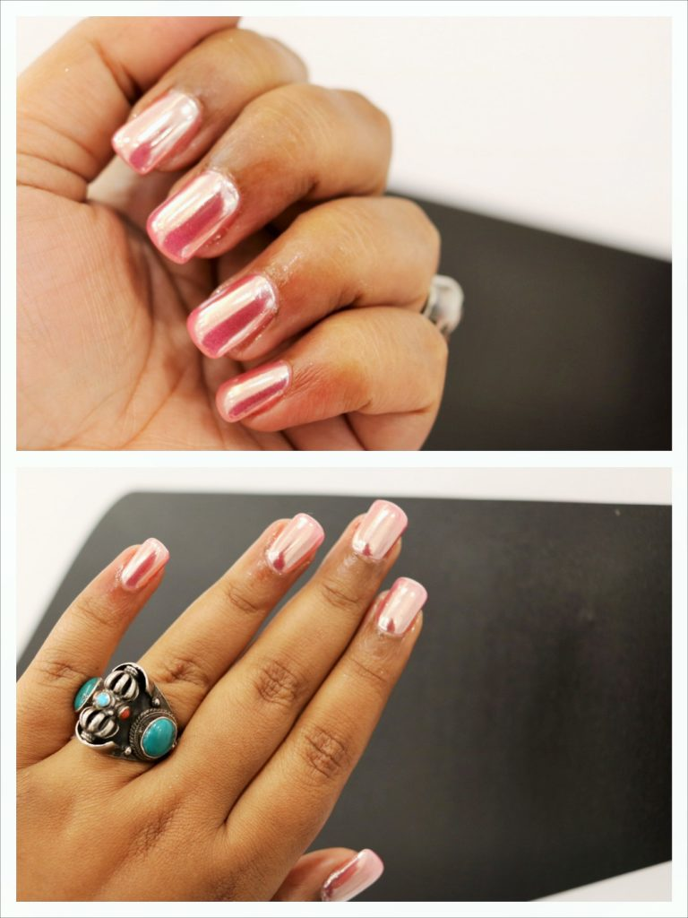 About The Nail Amp Lash Bar And My New Rose Gold Chrome Nails