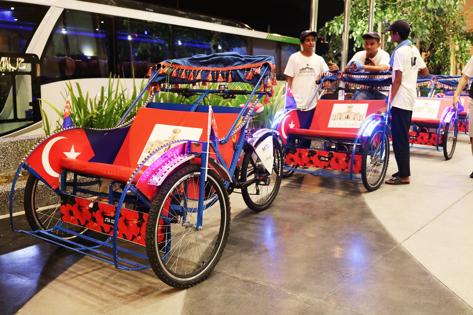 Trishaw rides organised by Johor Tourism